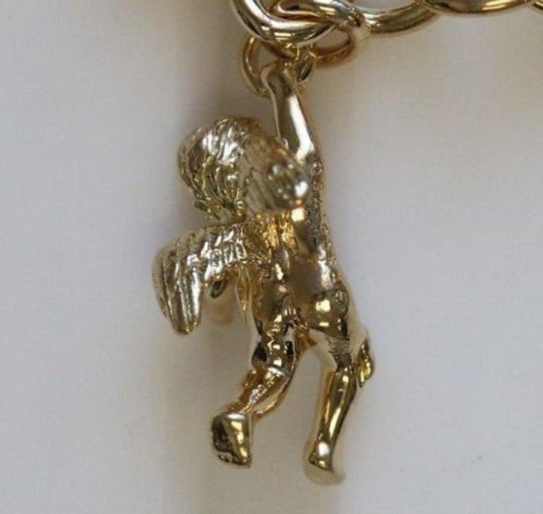 Contemporary Tiffany & Co. Solid 18 Karat Yellow Gold Angel Cherub Charm For Sale