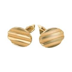 Tiffany & Co. Solid 18 Karat Yellow Gold Oval Cufflinks