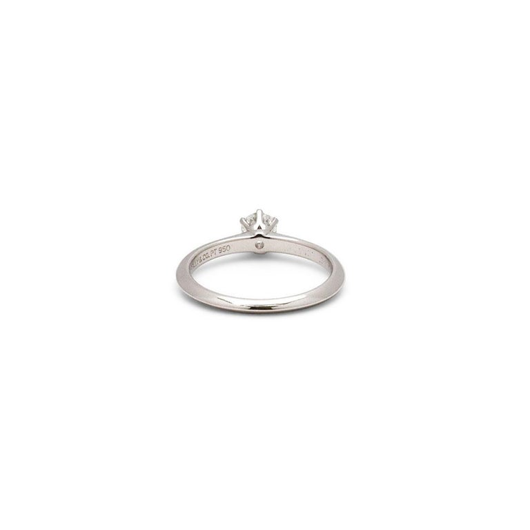 Tiffany & Co. Solitaire Diamond Engagement Ring In Excellent Condition For Sale In New York, NY
