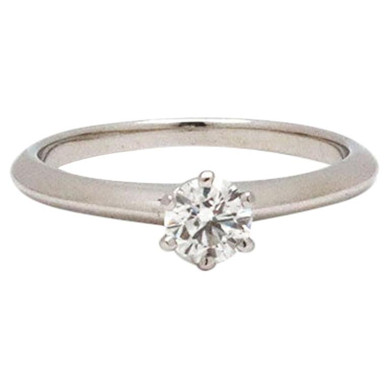 Tiffany & Co. Solitaire Diamond Engagement Ring For Sale