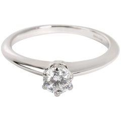 Tiffany & Co. Solitaire Diamond Engagement Ring in Platinum '0.79 Carat I/VVS2'