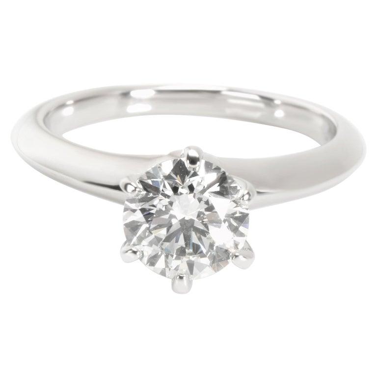 Tiffany & Co. Solitaire Diamond Engagement Ring in Platinum '1.10 Carat I/VS2'