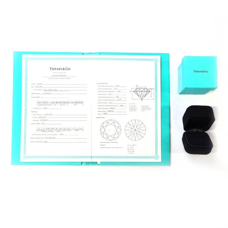 Women's Tiffany & Co. Solitaire Diamond Engagement Ring in Platinum '1.10 Carat I/VS2'
