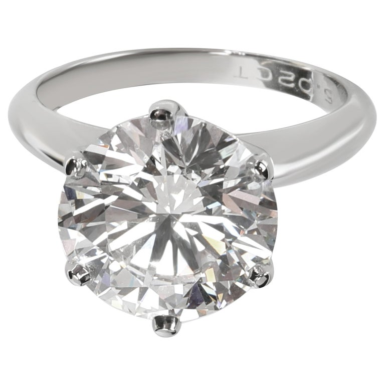 Tiffany & Co. Solitaire Diamond Engagement Ring in Platinum D VS1 5.02 Carat For Sale