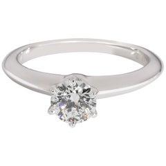 Tiffany & Co. Solitaire Diamond Engagement Ring in Platinum E VVS2 0.43 Carat