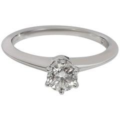 Tiffany & Co. Solitaire Diamond Engagement Ring in Platinum H VS1 0.46 Carat