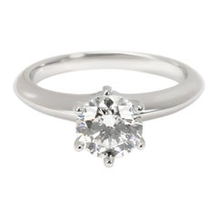 Tiffany & Co. Solitaire Diamond Engagement Ring in Platinum H VS1 1.02 Carat
