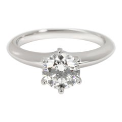 Tiffany & Co. Solitaire Diamond Engagement Ring in Platinum H VS1 1.02 CTW