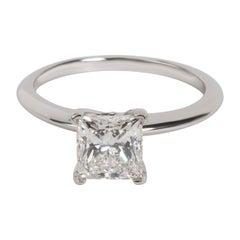 Tiffany & Co. Solitaire Diamond Engagement Ring in Platinum H VS1 1.55 Carat