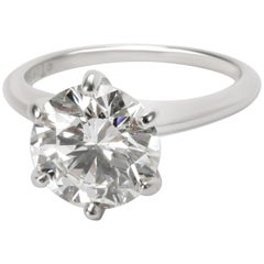 Tiffany & Co. Solitaire Diamond Engagement Ring in Platinum H VS1 2.71 Carat