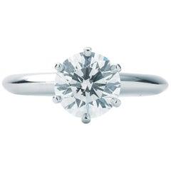 Tiffany & Co. Solitaire Diamond Ring '1.42 Carat HVS2'