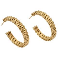 Tiffany & Co. 'Somerset' Gold Hoop Earrings