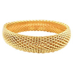 Tiffany & Co. Somerset Mesh Bracelet, 18 Karat Yellow Gold, circa 1995
