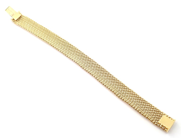 Tiffany & Co. Somerset Mesh Yellow Gold Bracelet For Sale 2