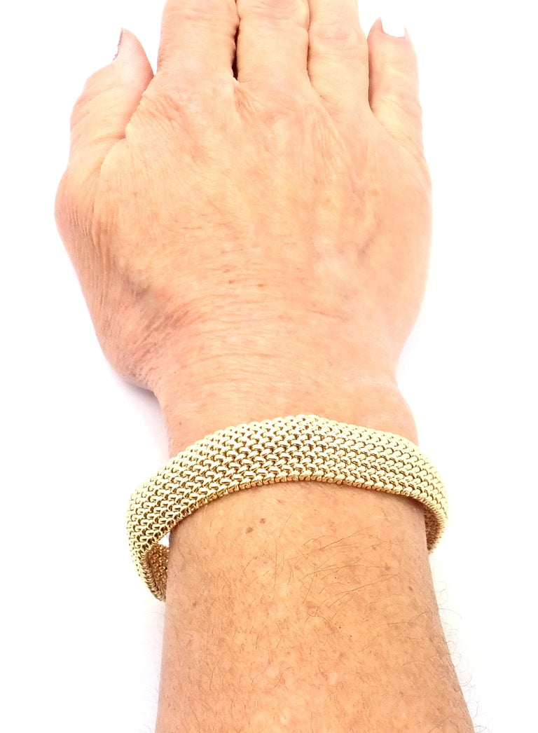 Tiffany & Co. Somerset Mesh Yellow Gold Bracelet For Sale 4