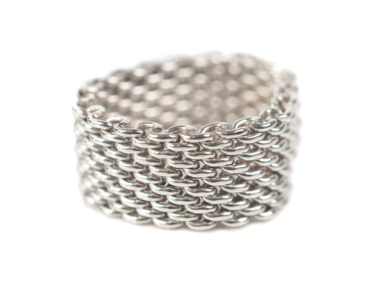 Tiffany And Co Somerset Sterling Silver Mesh Chain Link