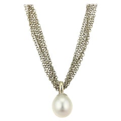 Tiffany & Co. South Sea Pearl White Gold Multi-Chain Toggle Clasp Necklace