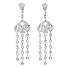 Tiffany & Co. Spade Earrings in Platinum 5.61 Carat