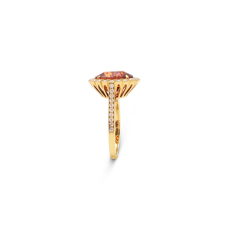 Women's Tiffany & Co. Spessartite Garnet and Diamond Ring For Sale