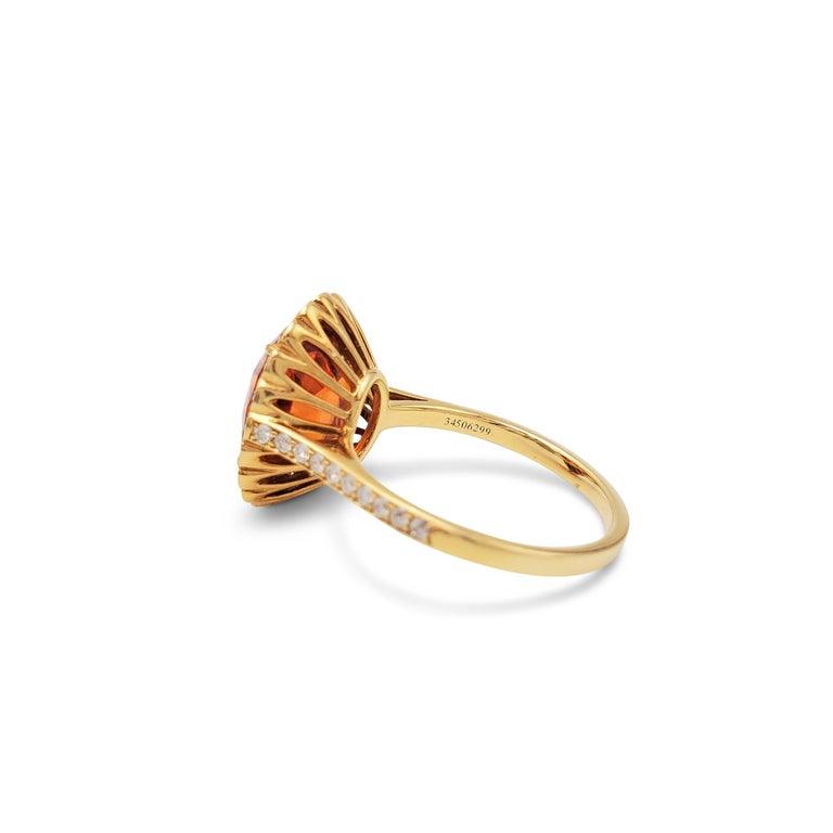 Tiffany & Co. Spessartite Garnet and Diamond Ring For Sale 1