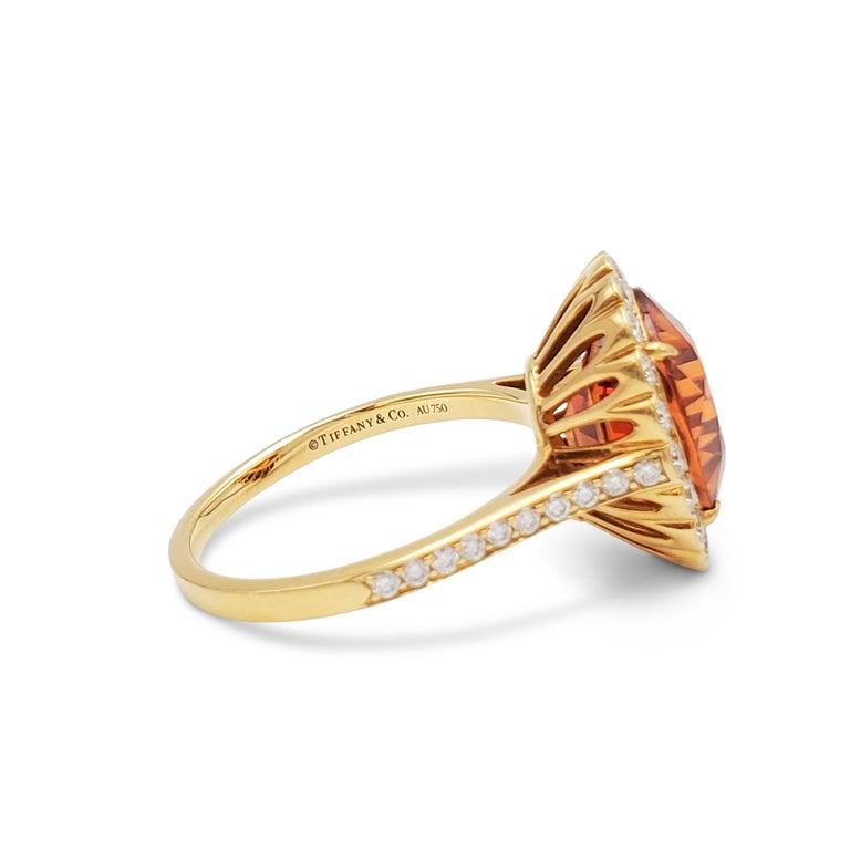 Tiffany & Co. Spessartite Garnet and Diamond Ring For Sale 2