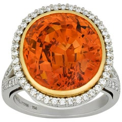 Tiffany & Co. Spessartite Garnet ring, 12 Carat