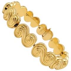 Tiffany & Co. 'Spiro' Swirl Yellow Gold Bracelet