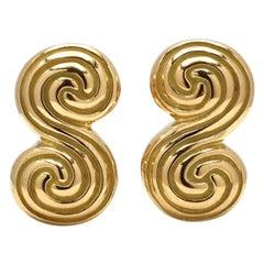 Tiffany & Co. 'Spiro Swirl' Yellow Gold Cufflinks