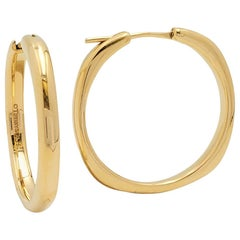 Tiffany & Co. 'Square Cushion' Collection Yellow Gold Hoop Earrings