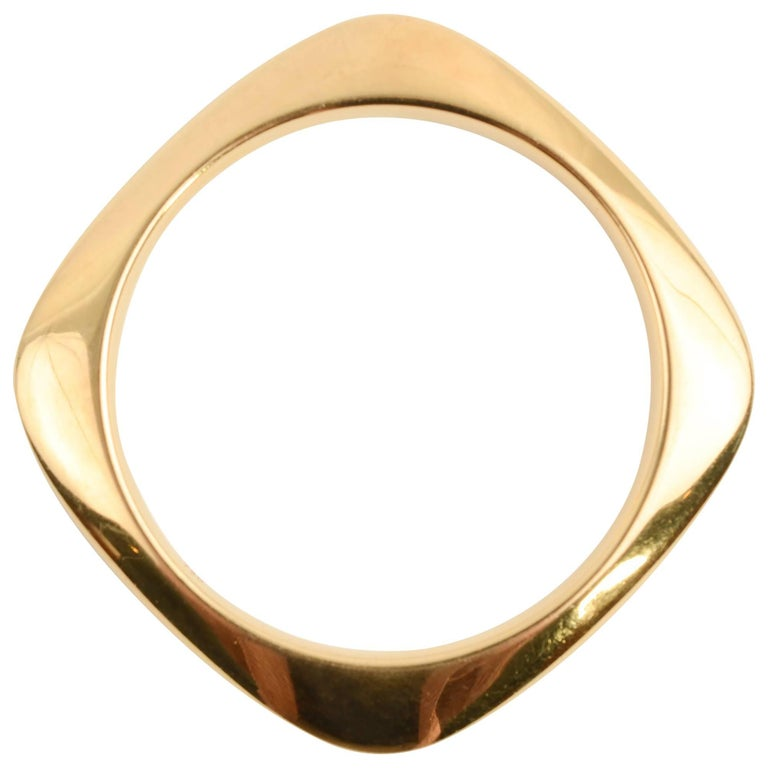 0d5889f74 Tiffany and Co. Square Gold Bangle Bracelet For Sale at 1stdibs