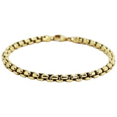 Tiffany & Co. Square Link 18 Carat Yellow Gold Bracelet