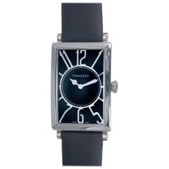 Tiffany & Co. Stainless Steel Black Dial Men's Wristwatch