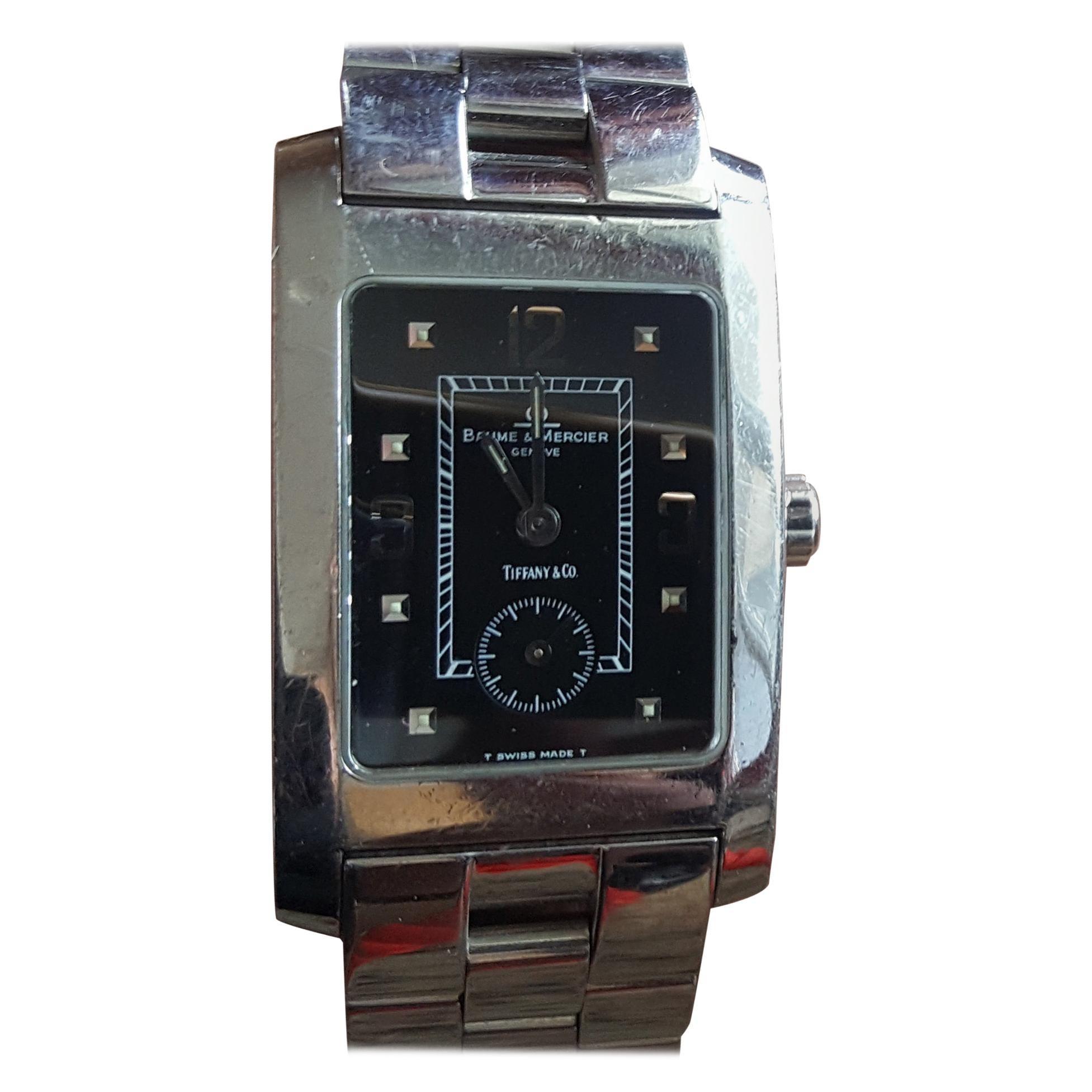Baume Mercier Hampton Tank Watch, Hampton MV045063, Tiffany Co. Quartz