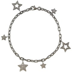 Tiffany & Co. Star Charm Platinum Diamond Bracelet