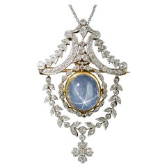 Tiffany & Co. Star Sapphire and Diamond Pendant/Brooch