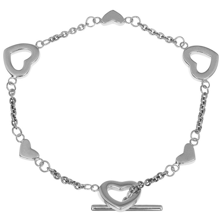 Tiffany & Co. Sterling 925 Silver Heart Bracelet