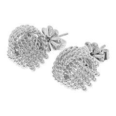 Tiffany & Co. Sterling 925 Silver Twist Knot Studs Earrings