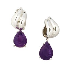 Tiffany & Co. Sterling and Amethyst Earrings