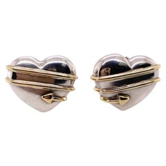 Tiffany & Co. Sterling and Gold Earrings