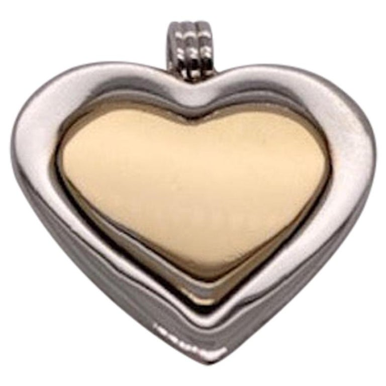 Tiffany & Co. Sterling and Gold Heart Pendant For Sale