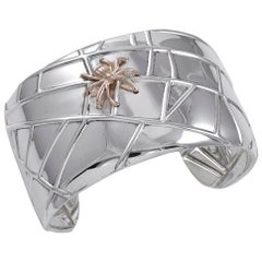 Tiffany & Co. Sterling and Gold Spider Cuff