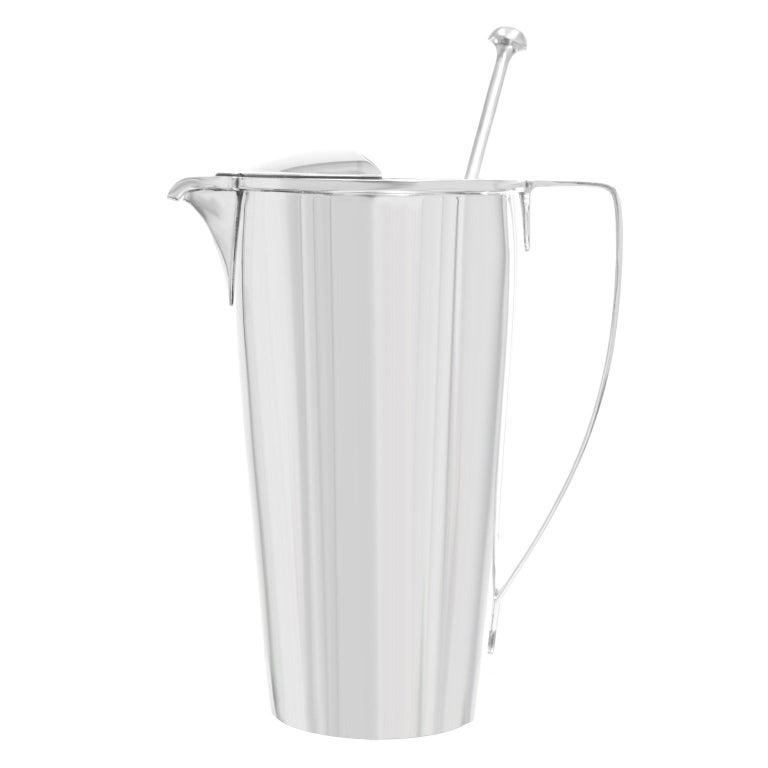 Tiffany & Co. Sterling Art Deco Cocktail Pitcher/Mixer For Sale