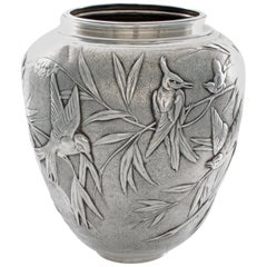 Tiffany & Co. Sterling Audubon Vase