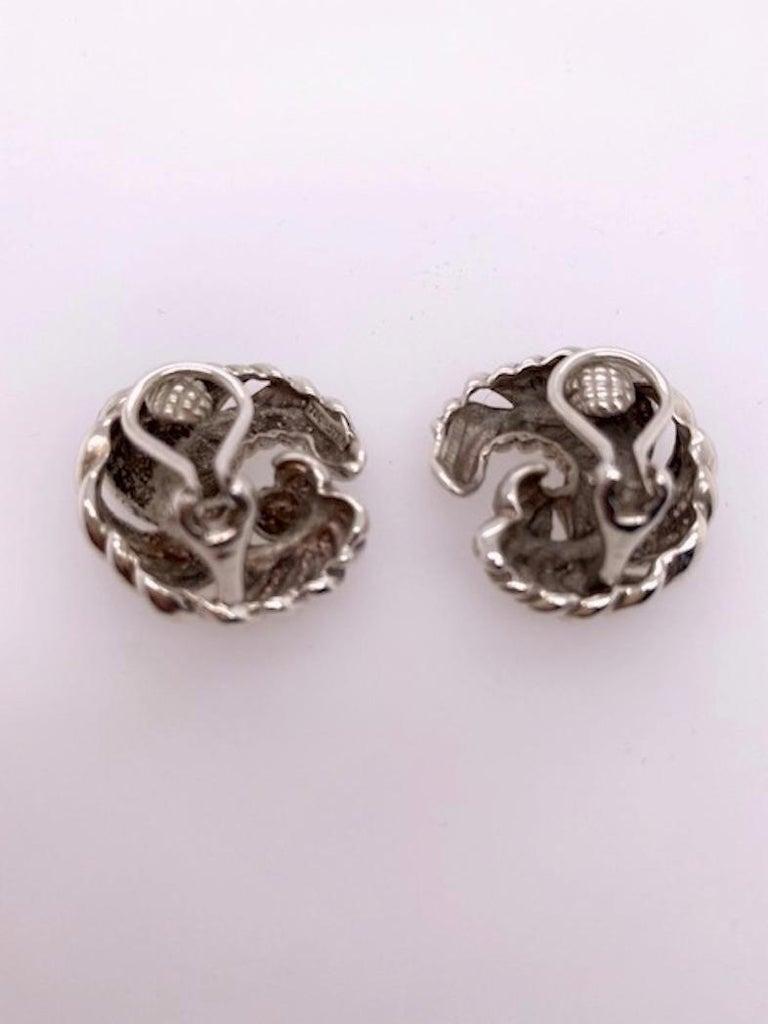 Women's Tiffany & Co. Sterling Earrings For Sale
