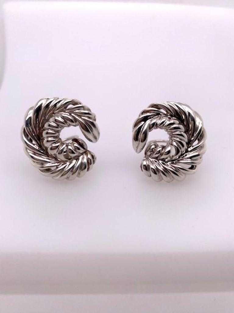 Tiffany & Co. Sterling Earrings For Sale 1