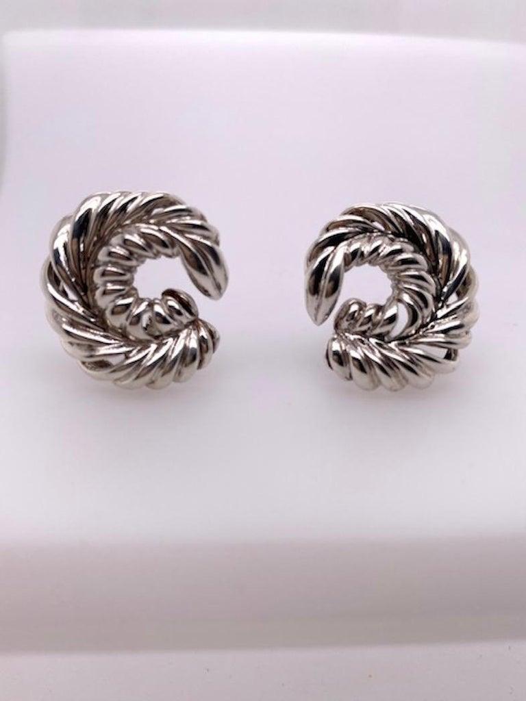 Tiffany & Co. Sterling Earrings For Sale 2