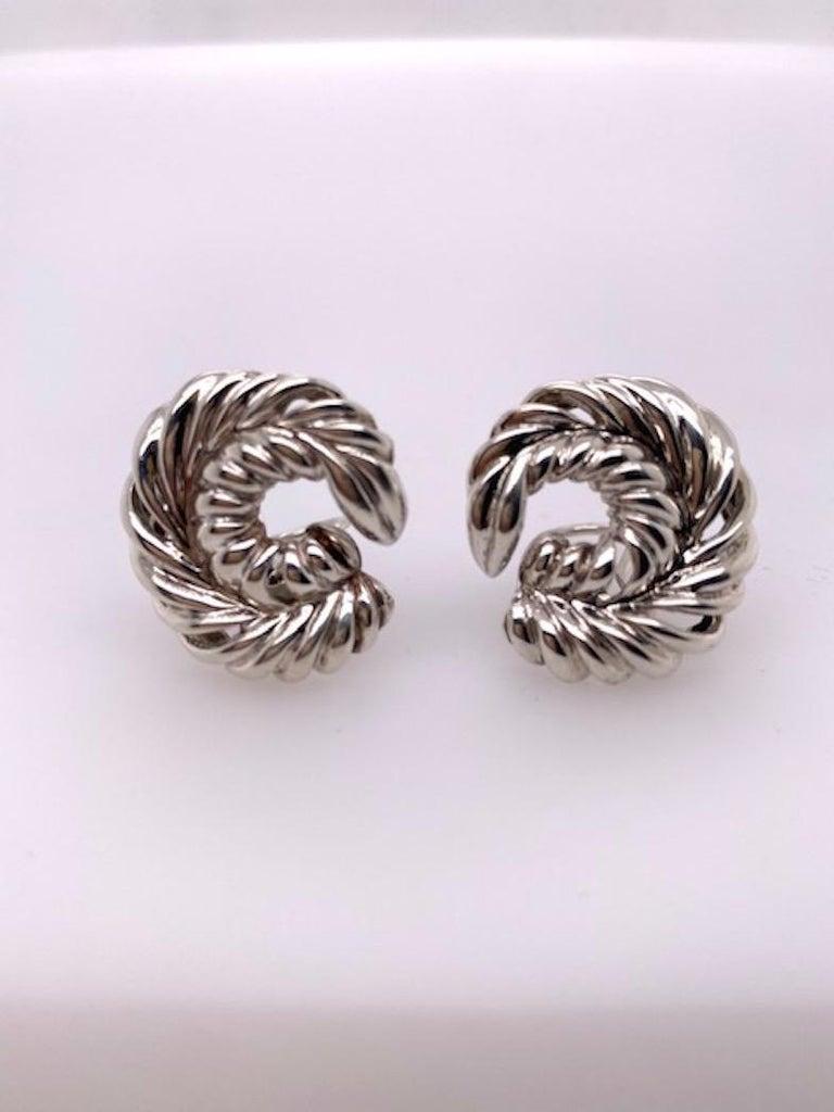 Tiffany & Co. Sterling Earrings For Sale 3