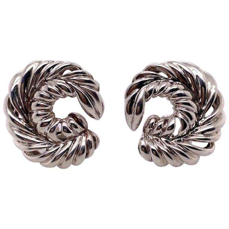 Tiffany & Co. Sterling Earrings For Sale