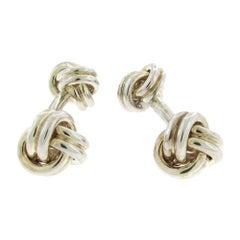 Tiffany & Co. Sterling Knot Cufflinks