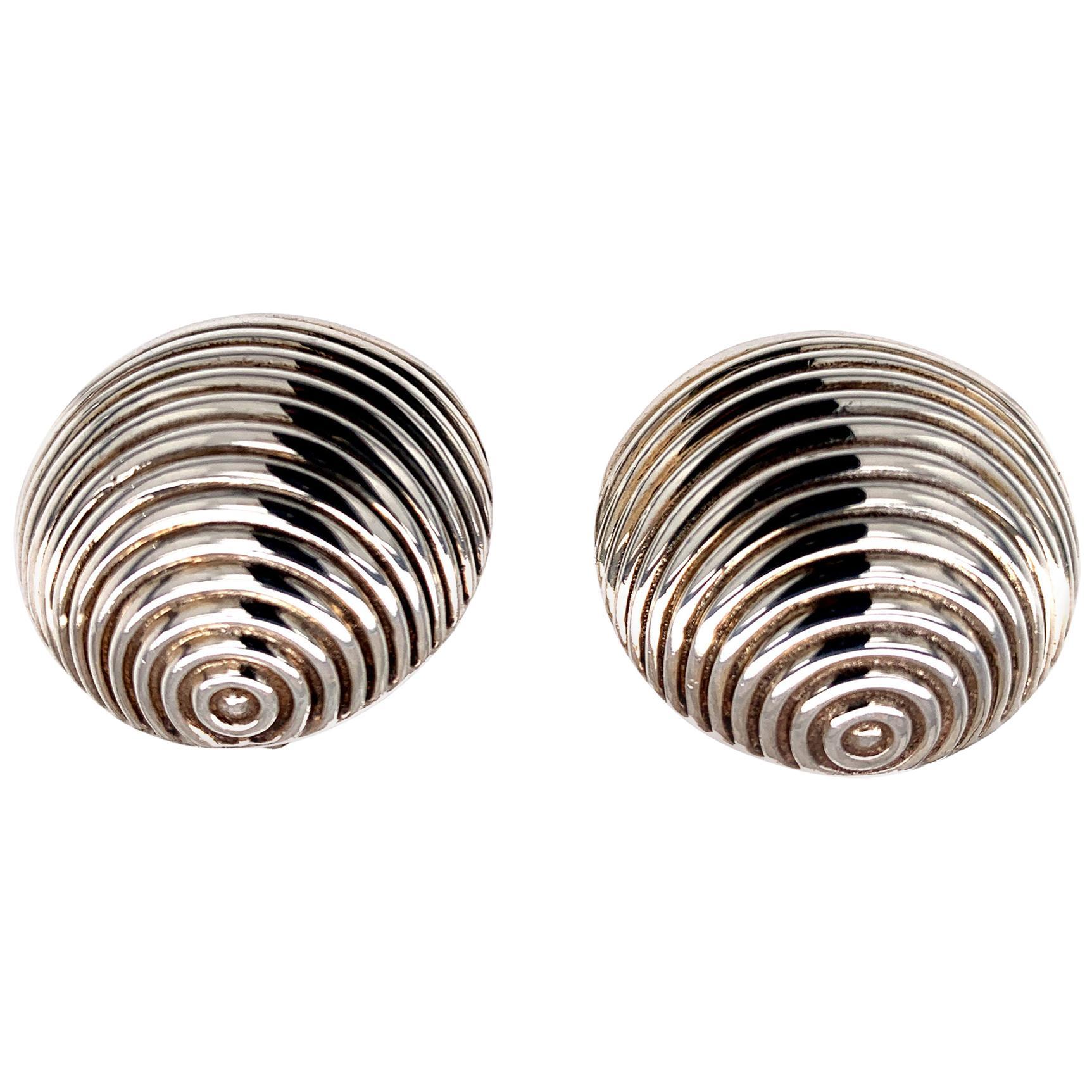 Tiffany & Co. Sterling Shell Earrings